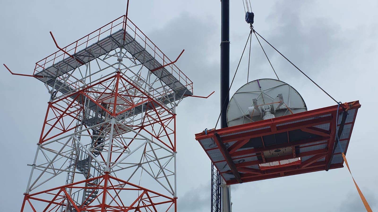 ragged island weather radar station construction
